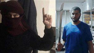 أمين ياسين، يسار، وعلي عرموش، يمين، الذان قُدمت ضدهما لائحتي اتهام لانضمامهما إلى تنظيم 'الدولة الإسلامية'، في 22 أغسطس، 2019. (Shin Bet)