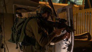 جنود يأمنون بلدات في منطقة حدود غزة، 1 اغسطس 2019 (Israel Defense Forces)