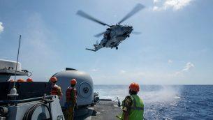 """سلاح البحرية الإسرائيلي يجري تدريبا مع جيوش اجنبية على الرد على زلزال ضخم في شمال اسرائيل ضمن تدريب """"امواج قوية 2019"""" البحري، اغسطس 2019 (Israel Defense Forces)"""