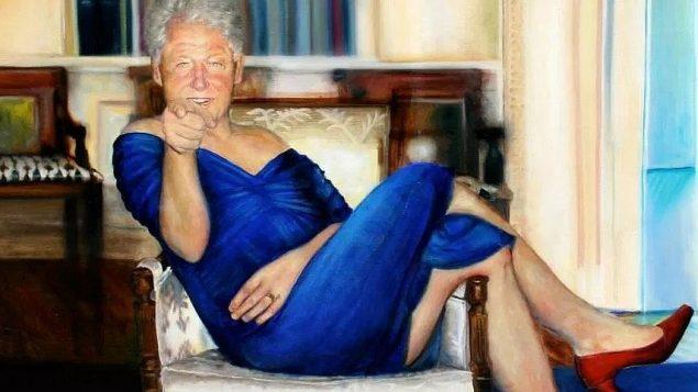 لوحة من عمل الفنانة باترينا ريان كلايد، معلقة بحسب الافتراض داخل منزل جيفري ابستين في نيويورك (Petrina Ryan-Kleid)