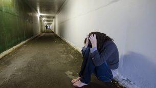 صورة توضيحية لاعتداء جنسي. (via Shutterstock)
