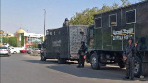 شرطة مكافحة الشغب المصرية في شوارع العاصمة المصرية القاهرة، 27 سبتمبر، 2019.  (Photo by Khaled DESOUKI / AFP)