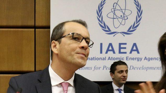 المدير العام بالنيابة للوكالة الدولية للطاقة الذرية كورنيل فيروتا في المركز الدولي في فيينا، 1 اغسطس 2019 (Ronald Zak/AP)
