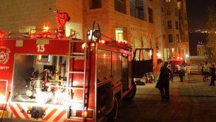 صورة توضيحية: شاحنة اطفاء في القدس، 18 سبتمبر 2010 (Yossi Zamir/Flash 90)