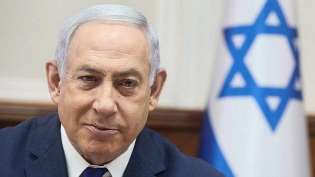 رئيس الوزراء بنيامين نتنياهو يترأس الجلسة الأسبوعية للحكومة في مكتب رئيس الوزراء بالقدس، 3 سبتمبر، 2019. (Marc Israel Sellem/Pool/Flash 90)