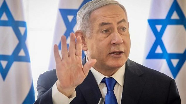 رئيس الوزراء بنيامين نتنياهو يترأس الجلسة الأسبوعية للحكومة في غور الأردن، 15 سبتمبر، 2019. (Photo by Marc Israel Sellem/POOL)