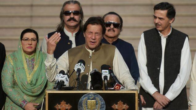 رئيس الوزراء الباكستاني عمران خان في اسلاماباد، 11 اكتوبر 2019 (AAMIR QURESHI / AFP)