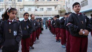 صورة توضيحية: طلاب مدرسة في عمان، 12 ديسمبر 2017 (AFP Photo/Khalil Mazraawi)