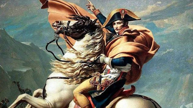 نابليون يعبر جبال الالب، لجاك لوي دافيد