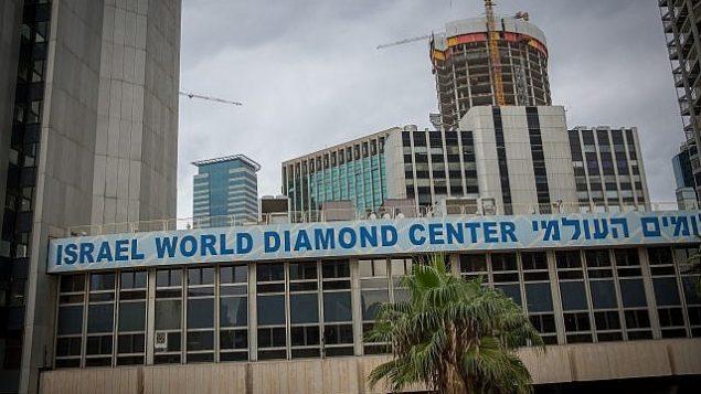 بورصة الماس في رمات غان، ضواحي تل أبيب، 18 ديسمبرن 2017.  (Miriam Alster/FLASH90)