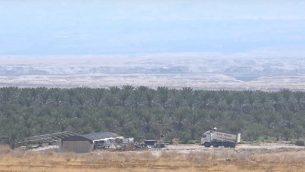 لقطة شاشة من فيديو لمنطقة تسوفر (الغمر) بين إسرائيل والأردن.  (YouTube)
