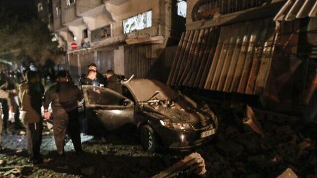 المنزل المدمر لزعيم الجهاد الإسلامي بهاء أبو العطا بعد غارة إسرائيلية، غزة  12 نوفمبر 2019  MAHMUD HAMS / AFP