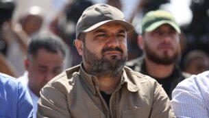 زعيم الجهاد الإسلامي الفلسطيني بهاء أبو العطا يشارك في مظاهرة في مدينة غزة، 21 أكتوبر 2016 (STR / AFP)