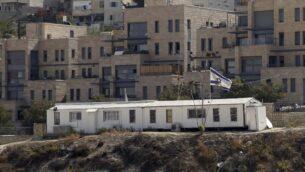 حي نوف تسيون في القدس الشرقية، 25 أكتوبر 2017. (Mahmoud Illean/AP)