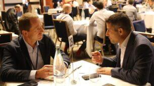مدراء  شركات يناقشون فرصا تجارية في إطار مؤتمر ARISE 2018 في إسرائيل.  (Courtesy)