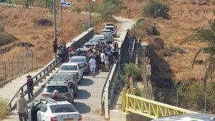 إسرائيليون يزرون نهراييم، 19 أكتوبر، 2019. (Courtesy of Naharayim)