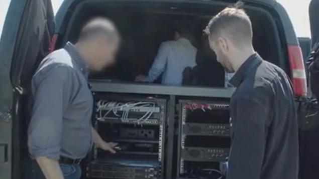 شاحنة تجسس من قبل شركة WiSpear الإسرائيلية، في مقطع فيديو أصدرته مجلة Forbes في 5 أغسطس 2019. (Forbes)