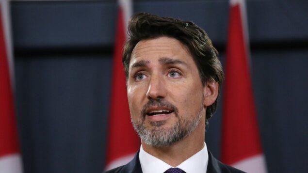 رئيس الوزراء الكندي جاستن ترودو يتحدث خلال مؤتمر صحفي في 9 يناير 2020 في أوتاوا ، كندا (DAVE CHAN / AFP)