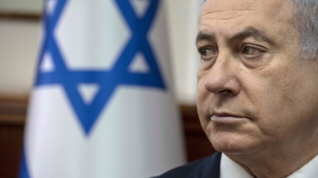 رئيس الوزراء بنيامين نتنياهو يترأس الجلسة الأسبوعية للحكومة في مكتب رئيس الوزراء في القدس، 12 يناير، 2019. ( Tsafrir Abayov / POOL / AFP)