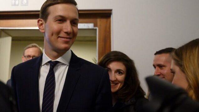 المستشار الكبير للبيت الأبيض، جاريد كوشنر، في منتدى الاقتصاد العالمي في دافوس، 21 يناير، 2020.  (Photo by JIM WATSON / AFP)