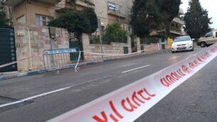 طريق مغلق وسط وسط مدينة القدس، 23 يناير، 2020. (Joshua Davidovich/Times of Israel)