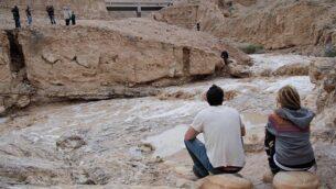صورة توضيحية لوادي أوغ، وهو يمتد من منطقة قريبة من القدس إلى البحر الميت، 26 نوفمبر، 2014. (Maxim Dinshtein/Flash90)