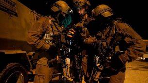 قوات إسرائيلية عاملة في الضفة الغربية. (IDF Spokesperson's Unit)