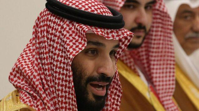 الأمير السعودي محمد بن سلمان يتحدث في قمة أوساكا لمجموعة العشرين، 29 يونيو 2019. (Mikhail Svetlov/Getty Images via JTA)