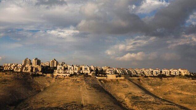مستوطنة معاليه أدوميم في الضفة الغربية، 28 يناير 2020. (Menahem Kahana/AFP)