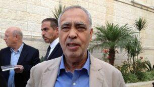 عضو اللجنة المركزية لحركة فتح، محمد المدني.  (Elhanan Miller/Times of Israel)