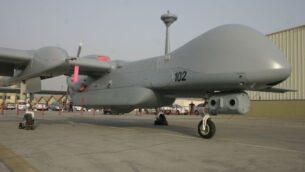 تم تصميم طائرات 'هيرون' لتطير على ارتفاعات عالية في مهام تمتد لعدة أيام، طورتها شركة الصناعات الجوية الإسرائيلية. (Tsahi Ben-Ami / Flash 90)