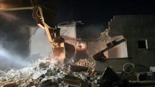 القوات الإسرائيلية تهدم منزل منفذ عملية مسلحة في مدينة جنين بالضفة الغربية، 6 فبراير، 2020. (Israel Defense Forces)
