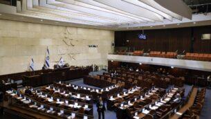 الكنيست في القدس، 11 ديسمبر 2019 (Menahem Kahana/AFP)