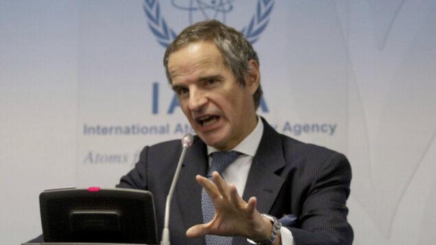 رافائيل غروسي، مدير عام الوكالة الدولية للطاقة الذرية، بالمركز الدولي في فيينا، النمسا، 10 فبراير 2020. (AP Photo / Ronald Zak)