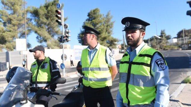 توضيحية: عناصر شرطة في القدس في صورة غير مؤرخة. (Israel Police)