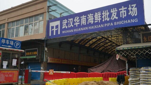 سوق ووهان هوانان لبيع المأكولات البحرية بالجملة، حيث يعتقد أن فيروس كورونا انتشر في البداية، في 21 يناير 2020. (AP Photo / Dake Kang)