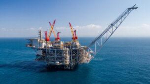 صورة توضيحية: صورة من الجو لمنصة تنقيب عن الغاز الطبيعي قبالة السواحل الإسرائيلية (Albatross)
