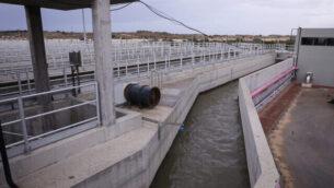 توضيحية: محطة 'غوش دان' لمعالجة  مياه الصرف الصحي في ريشون لتسيون، 22 نوفمبر، 2018.(Isaac Harari/Flash90)