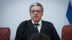 قاضي المحكمة العليا ميني مزوز  في المحكمة العليا بالقدس، 22 مارس، 2019.   (Yonatan Sindel/Flash90)