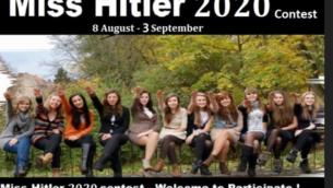 إعلان لمسابقة 'ملكة جمال هتلر 2020'.  (Courtesy/Anti-Defamation Commission)