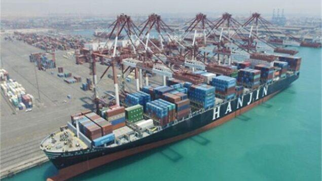 ميناء الشهيد رجائي في مدينة بندر عباس الإيرانية. (Iran Ports and Maritime Organization)