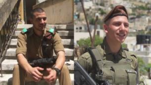 التوأمان فارس (يسار) وفراس محمد، عربيان مسلمان يخدمان في لواء 'غولاني' بالجيش الإسرائيلي. (Channel 12 screenshot)