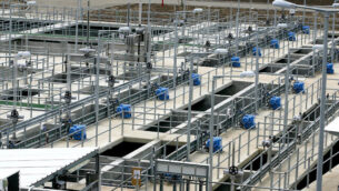 محطة 'إشكول' لتنقية المياه  في شمال اسرائيل، 17 نيسان 2007. (Moshe Shai / FLASH90)