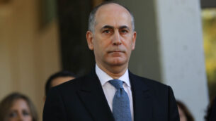 السفير الأردني في إسرائيل غسان المجالي في حفل للسفراء الجدد في مقر الرئيس في القدس، 8 نوفمبر 2018. (Yonatan Sindel / Flash90)