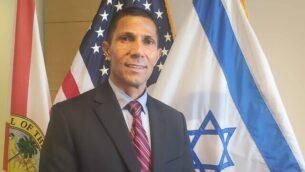إسماعيل خالدي في القنصلية الإسرائيلية في ميامي  (Courtesy Israeli Consulate)