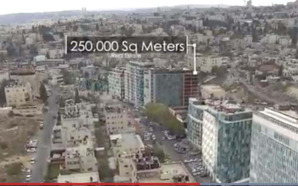 مشروع 'وادي السيليكون' المقترح في وادي الجوز في القدس الشرقية.  (Screenshot from Jerusalem muncipality promotional video)