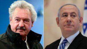 صورة مركبة - من اليسار إلى اليمين: وزير خارجية لوكمسبورغ جان أسلبورن في بروكسل، 26 فبراير، 2020؛ رئيس الوزراء الإسرائيلي بينيامين نتنياهو في الكنيست في 24 مايو، 2020.  (AP Photo/Virginia Mayo; Abir Sultan/Pool Photo via AP)