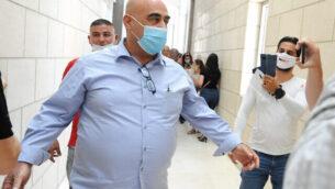 سلمان عامر، رئيس مجلس جولس المحلي السابق في المحكمة المركزية في حيفا، 28 يوليو، 2020.(Meir Vaknin/Flash90)
