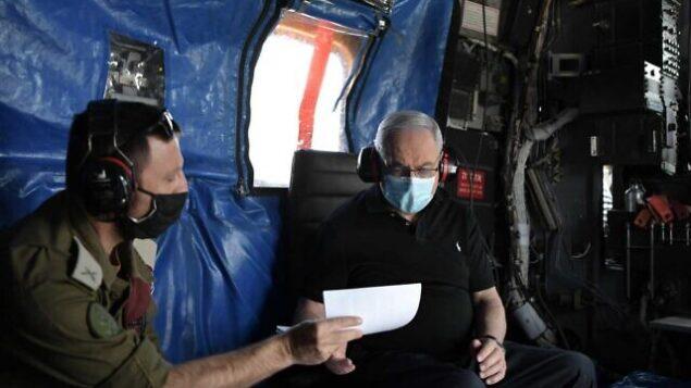 رئيس الوزراء بنيامين نتنياهو خلال مشاورات أمنية في شمال إسرائيل، 28 يوليو، 2020. (Kobi Gideon/GPO)