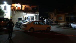موقع مقتل رجل وإصابة أربعة بالرصاص في قرية إبطن الشمالية، 18 يوليو 2020 (Israel Police)
